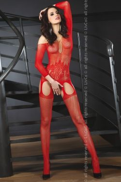 Bodystocking Adiva red